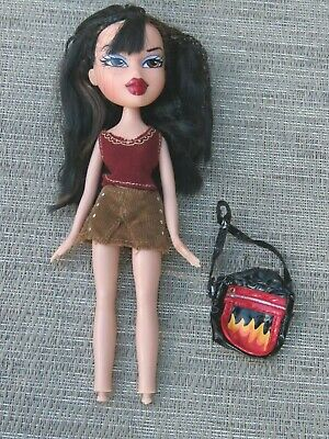 Bratz fashion Doll Style It Hippie Chic JADE original hair and purse, no feet