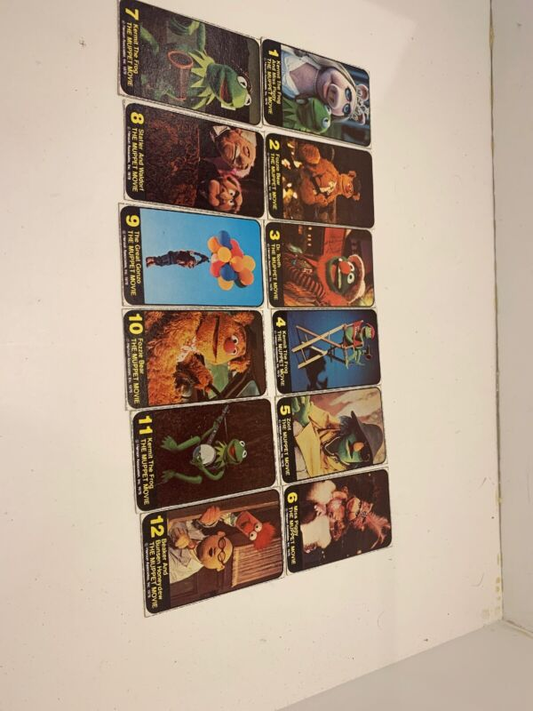 VINTAGE MUPPETS MOVIE CUT OUT TRADING CARDS 1979 CHEERIOS CEREAL BOX Set Of 12