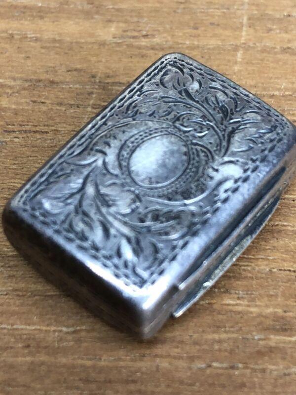 Edward Smith, Birmingham Vinaigrette- Hand Engraved Solid Silver Scent Box