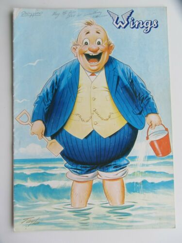 WINGS  PAUL McCARTNEY  1973  FAT MAN   CONCERT PROGRAMME