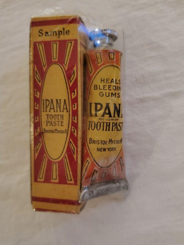 Vintage Ipana Toothpaste Sample In Original Sealed Packaging