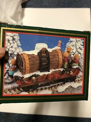 North Pole Expressway Train Set Bear The Official Rail Line of Christmas Vintage