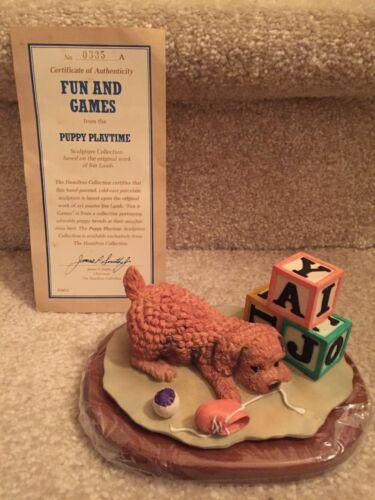 Hamilton Collection Figurine COCKER SPANIEL 1990 Fun and Games FREE SHIPPING