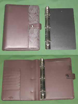 Classic 1.0 Floral S Leather Day Runner Planner Regency Binder Franklin Covey