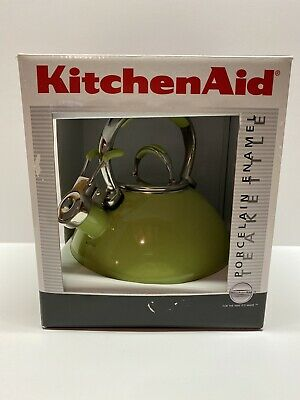 KitchenAid Green Apple 2 Quart Porcelain Enamel Tea Kettle #50745 - NIOB