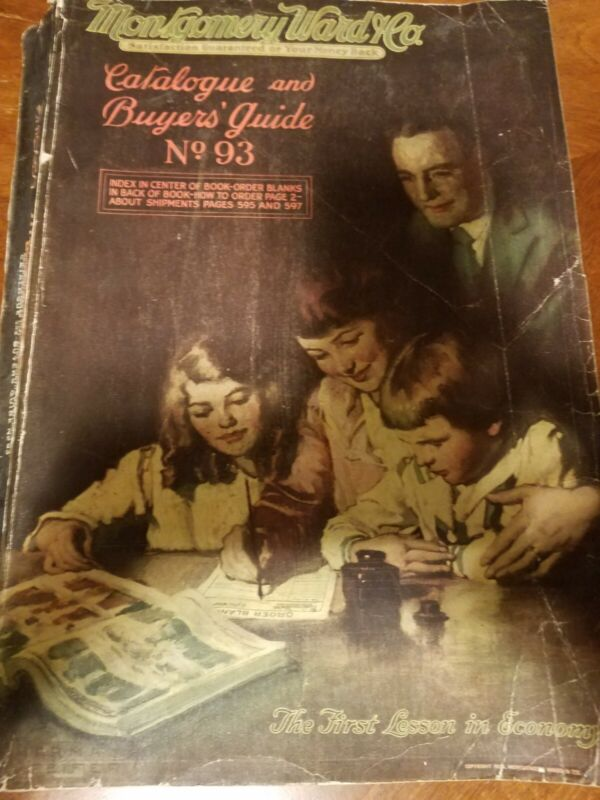 Antique Montgomery Ward & Co Catalog & Buyers Guide No.93 Chicago Copyright 1920