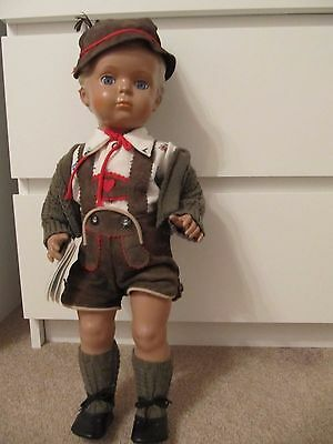 Schildkröt Puppe Junge in Lederhose Hans 49cm