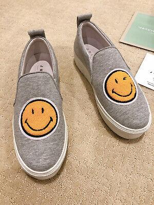 Joshua Sanders Grey Smiley Platformed Sneaker Slip On Size 38