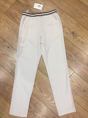 Jucca Lightweight Smart Casual Cream Stretch Trousers IT 40/ UK 6 / 8 New