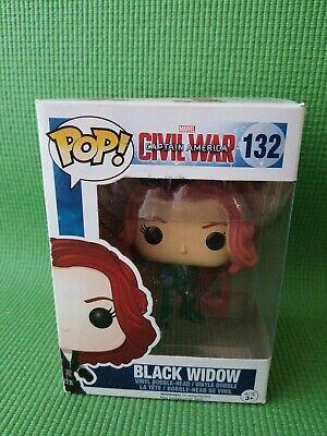 Funko POP Marvel Civil War Black Widow #132 Vinyl Figure Bobble Head