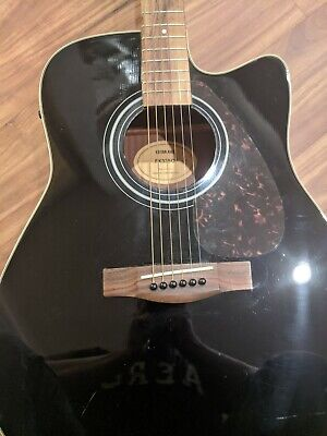 Yamaha FX335C Dreadnought Acoustic Guitar - Black