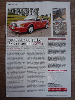 SAAB 900 Turbo 16S Convertible 1987 - Ads On Test Article