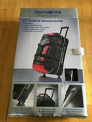 """Samsonite Andante 22""""x12.5""""x12"""" Duffle Bags - Black/Red"""