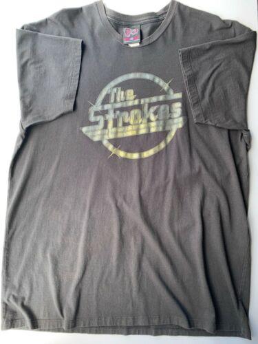 The Strokes Magna Gold Foil shirt, VINTAGE! Cinderblock circa 2001-2002 Worn, XL