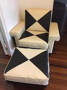 Leather Armchair and Ottoman - Great Condition Darling Point Eastern Suburbs Preview
