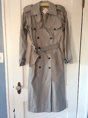 NWT Prada Double Breasted Trench Coat Sz 42 Diagonale Tec Pietra Orig $1446