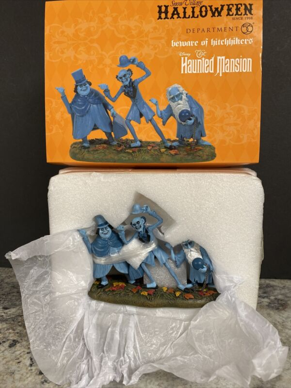 Dept 56 Village Halloween Disney Haunted Mansion Hitchhikers Hitchhiking Ghosts