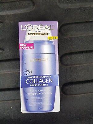 L'Oreal, Collagen Moisture Filler, Day Lotion, SPF 15 - 2 Fl Oz(60ml) Collagen Moisture Filler