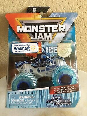 2020 Hot Wheels Monster Jam~NORTHERN NIGHTMARE~Fire & Ice~Walmart Exclusive~New