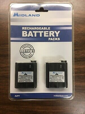 Midland 2-Pack Rechargeable Batteries for GXT 2-Way Radio AVP7 BATT-5R - NEW OEM Rechargeable Batt Pack