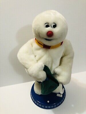 Gemmy Frosty The Snowman Spinning Snowflake Singing Hat Animatronic