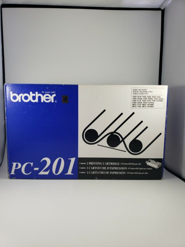 New Genuine Brother PC-201 Fax Toner Cartridge