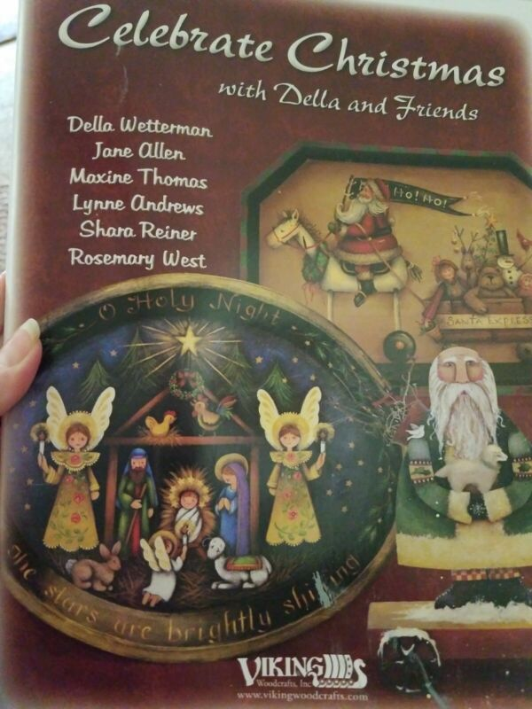 DECORATIVE TOLE PAINTING PATTERN BOOK CELEBRATE CHRISTMAS WITH DELLA AND FRIENDS