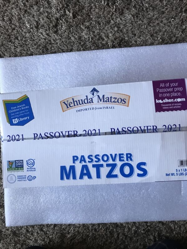 Yehuda 2021 Passover Matzos, 5 - 1 lb Packages