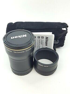 Nikon TC-E15ED 1.5x Telephoto Converter + UR-E8 Adaptor, Front Cap, Case Japan
