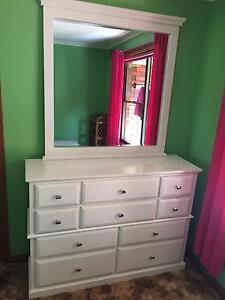 White dressing table with mirror Ridgley Burnie Area Preview