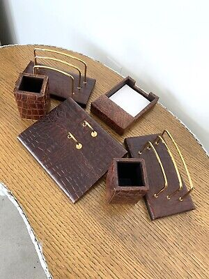 Majorca Genuine Leather Desk Set