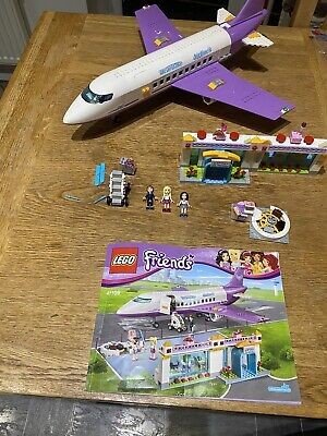 Lego Friends Purple plane and airport 100% complete