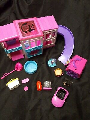Barbie Pets Pink Dream house Replacement with Figure assecories more