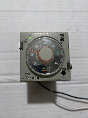 Omron Solid State Twin Timer H3cr-f8 100-240vac With Base Socket Used