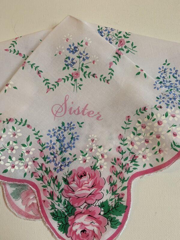 Stunning NEW Floral Rose SISTER Handkerchief Hankie! LuRay Vintage Style!