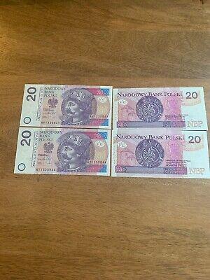 Billet polonais 20zl Nouveau