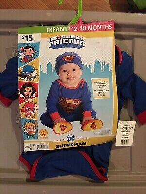 Baby Superman Costume 12 18 Months (Rubies Infant Costume Dress up DC Super Friends Superman  12 to 18 months )