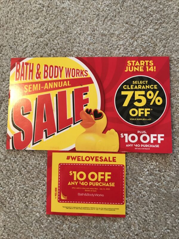 Bath & Body coupons 2 count