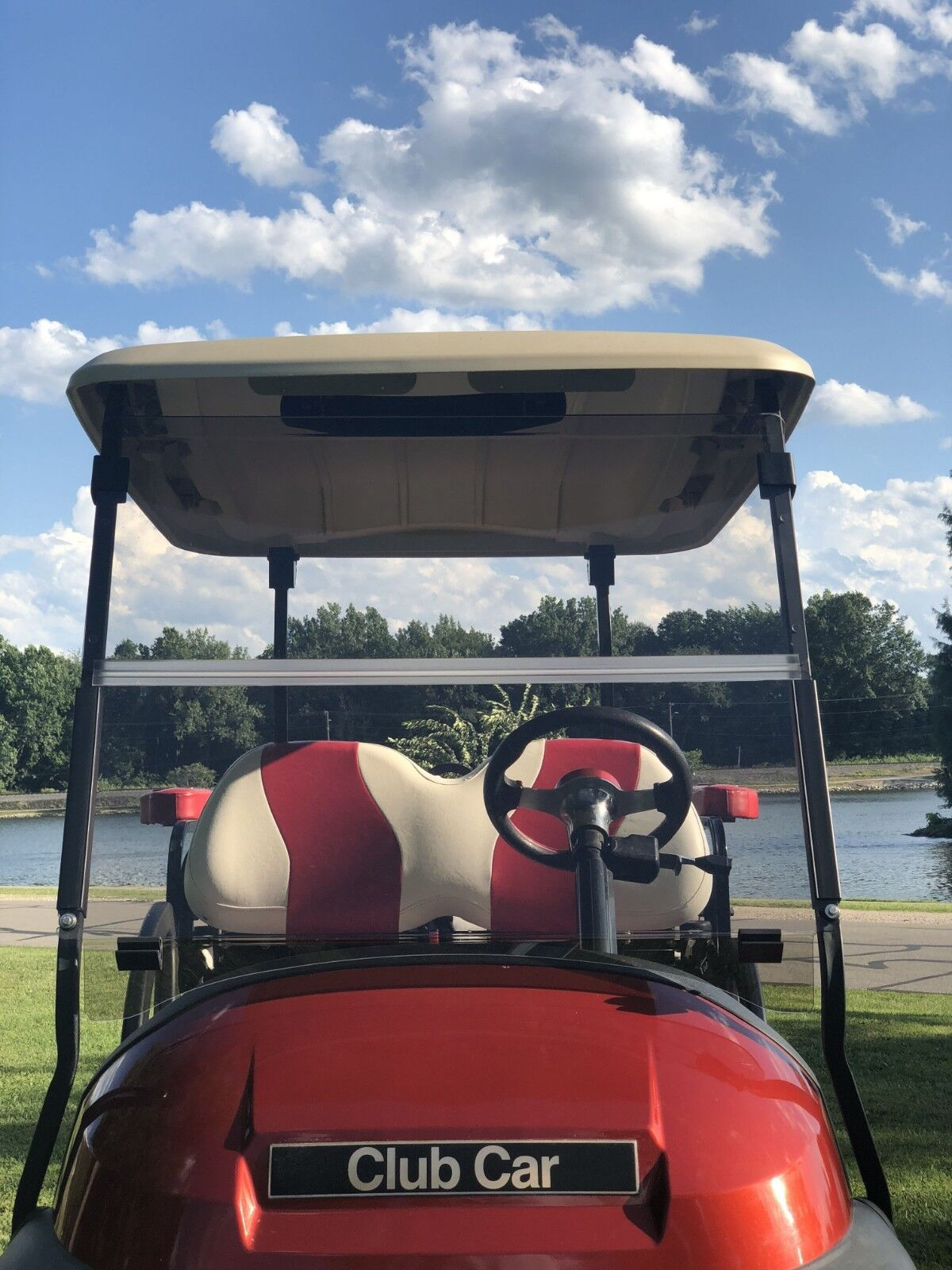 Club Car Tinted Windshield Fits Precedent Golf Cart Gas/ Electric 04+, Foldable