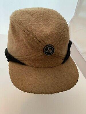 1950s Mens Hats | 50s Vintage Men's Hats  Vintage 1950s Cap Ski Hat Ear Flap Sz. Large Camping Wool Camel Black Winter  $20.00 AT vintagedancer.com