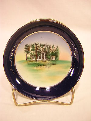 Roth Germany Souvenir China HERMITAGE, HOME OF GEN. JACKSON Cobalt Small Bowl