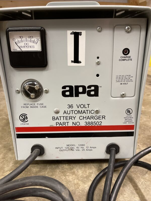 apa 36 volt automatic battery charger 25 Amp model 12060