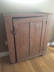 Antique Rustic Primitive Jelly Cupboard Kitchen Cabinet