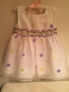Beautiful baby dress 24m with romper