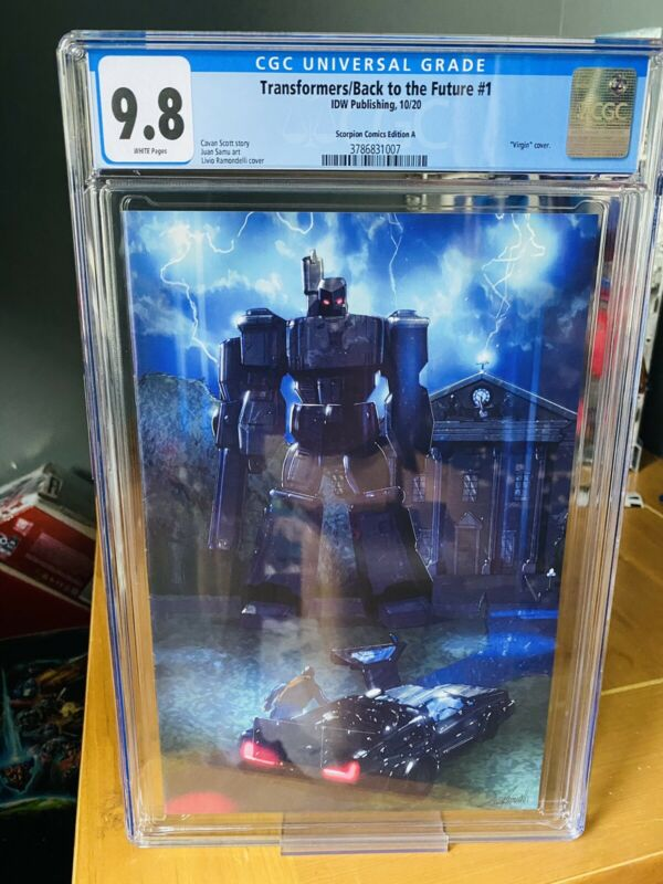 TRANSFORMERS BACK TO THE FUTURE #1, Ramondelli Variant CGC 9.8