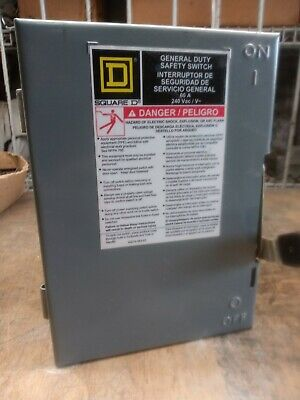 Square D Du322 60 Amps Ac 240vac Outdoor Safety Disconnect Switch 3p