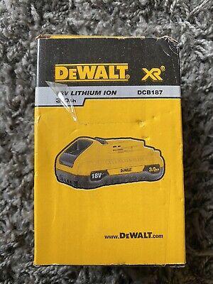 DeWalt Genuine DCB187-XJ 18V 3.0Ah Li-Ion XR Battery - New In Sealed...