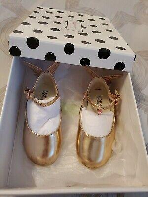 Girls Sophia Webster Mini Butterfly Shoes Rose Gold 25 u.s 8