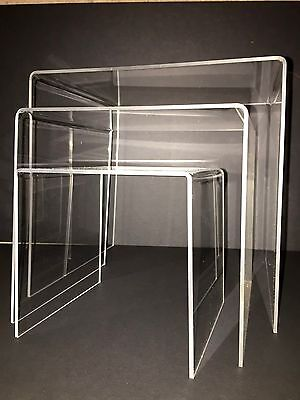 Acrylic 3 Piece Display Stands