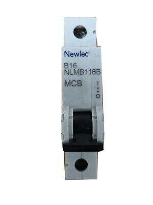 CRABTREE 16 A Type B 6kA MCB 61//B16 B16 Amp Disjoncteur testé
